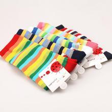 Min-order 3 pair Fall Winter Baby Long Colored Stripes Knee Socks Cute Toddler Girl Socks  Leg Warmers Baby Long Socks