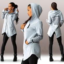 2015 autumn winter women Hoodies sweatshirts letter long-sleeved hooded Harajuku Plus Size Sportswear LJ1212M(China (Mainland))
