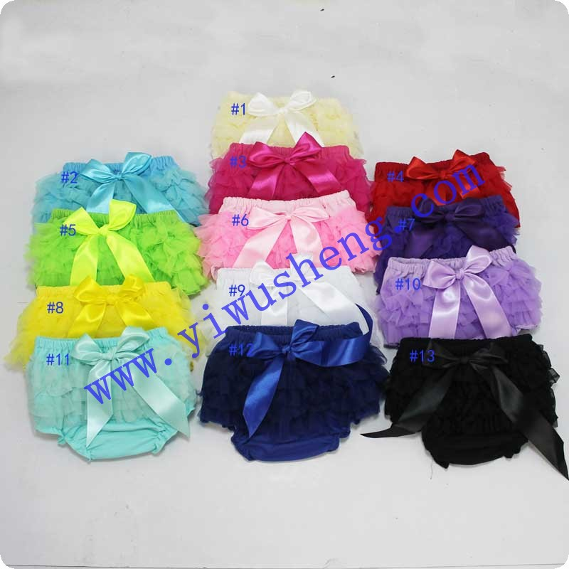 Baby Ruffled Panties Cotton Bloomers Baby Girls 19 Colors Cute Diaper Coves Infant Toddle Tutu Short PP Solid Silicone Reborn(China (Mainland))