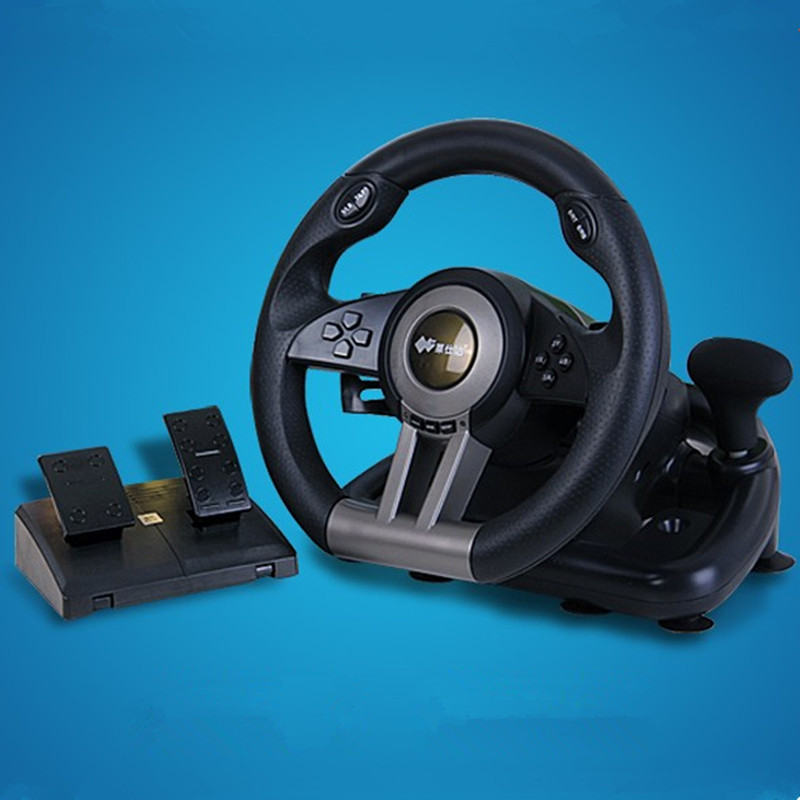 Game accessory Lima shida second generation pxn-v3ii simulation automobile race vibration computer game steering wheel(China (Mainland))