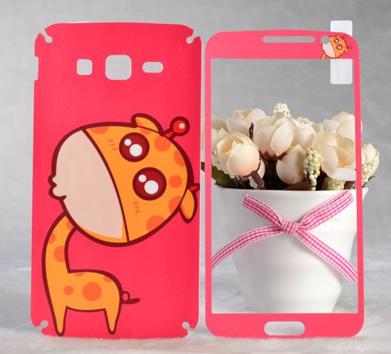 Baby giraffe brands sticker for Samsung Galaxy Grand 2 screen protector Grand2 G7106 G7108 cell mobile phones cover film(China (Mainland))