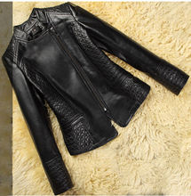 Save 90% discount New Real Genuine Leather Jacket Motocycle Leather Coat For women Low Low  Free Shipping FP280(China (Mainland))