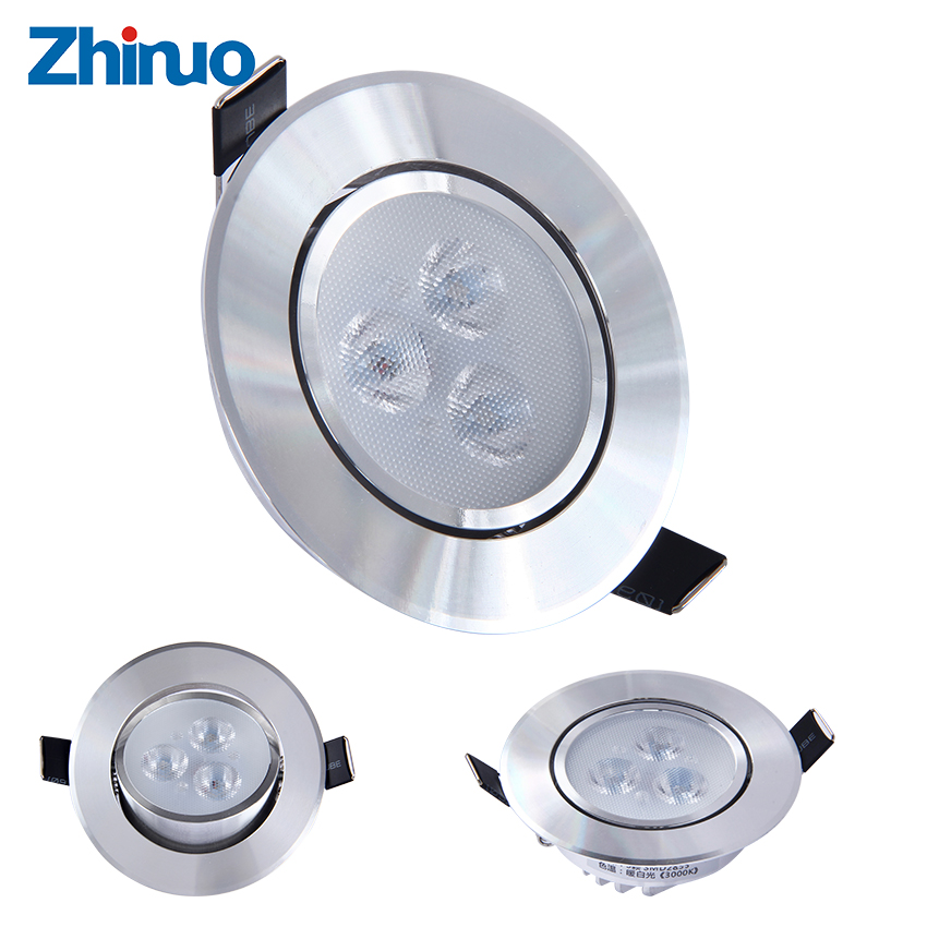 New LED DownLight Recessed Lighting 3W Seven Colours Spot Light Free Shipping(China (Mainland))