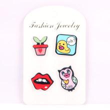 Fashion Pesawat Lencana Kecil Yang Indah Beruang Smiley Catatan Lipstik Pesawat Bros Tombol Pins Denim Pakaian Pin Lencana Perhiasan(China)