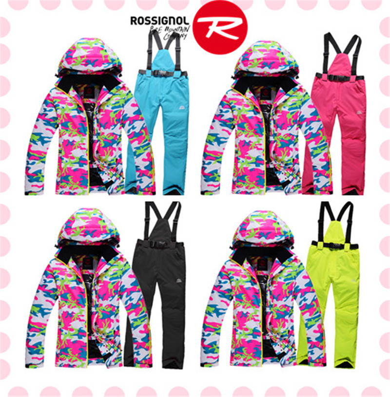 Free shipping Rossignal Women Ski Suit Set Waterproof Winter Warm High Quality Jacket+Pants Snowboard Suit Breathable Coat<br><br>Aliexpress