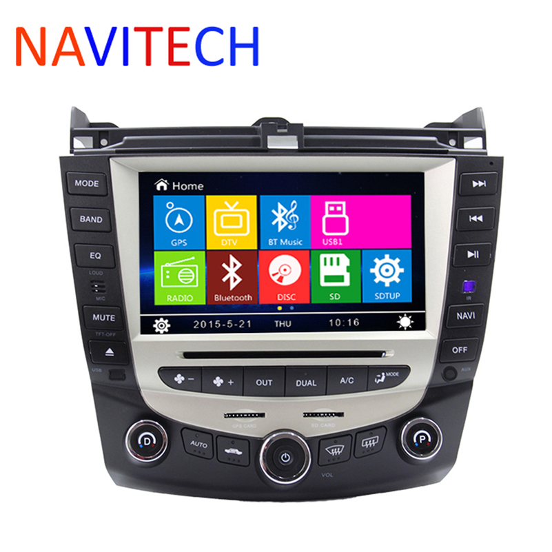8 Inch Car DVD Player GPS Navigation System for Honda Accord 2003 2004 2005 2006 2007 Single or Dual zone Climate Control Radio(China (Mainland))