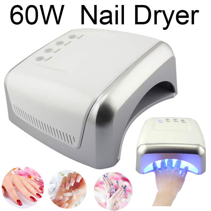 Brand LKE free shipping CCFL+LED 60W high power UV and led Nail Lamp nail dryer  Best Curing Lamp Nail Dryer with 4 Timers(China (Mainland))