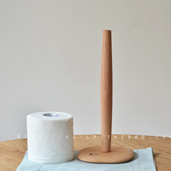 Above Was Beech Wood Kitchen Roll Toilet Paper Holder
