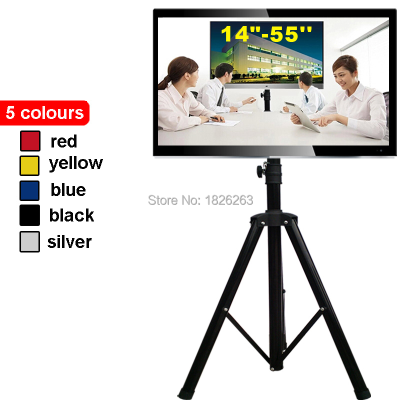 """14-55"""" Movable Folding LCD TV Floor Stand TV Mount Cart Display Rack(China (Mainland))"""