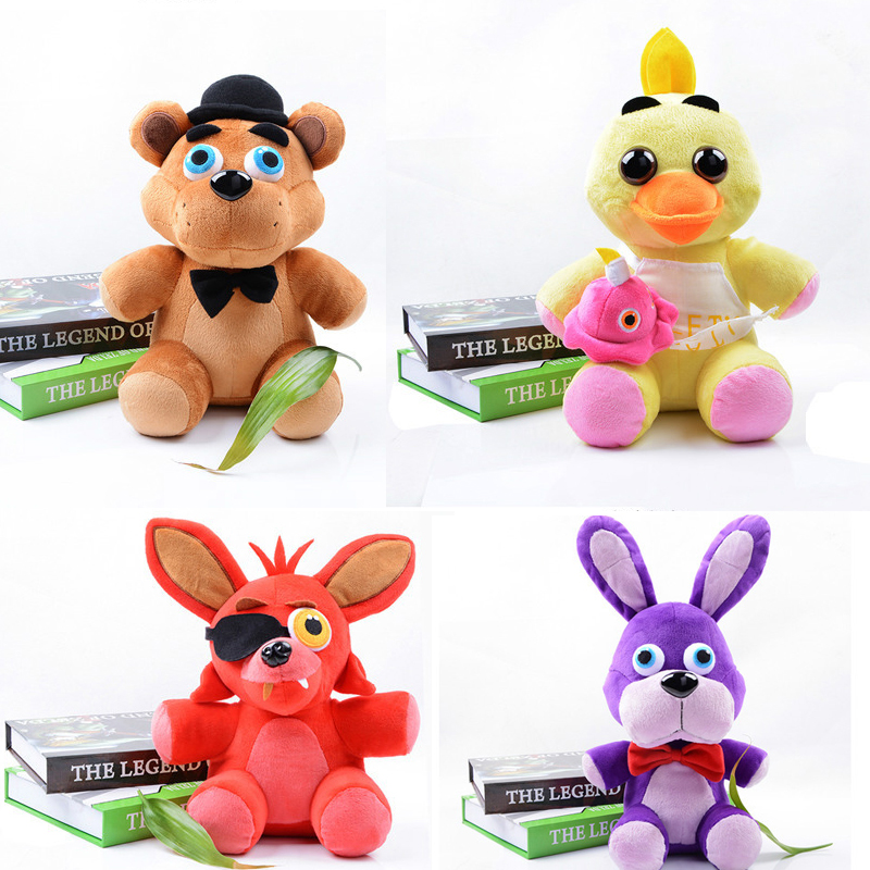 Five nights freddys 4 fnaf freddy foxy stuffed animals toys doll baby