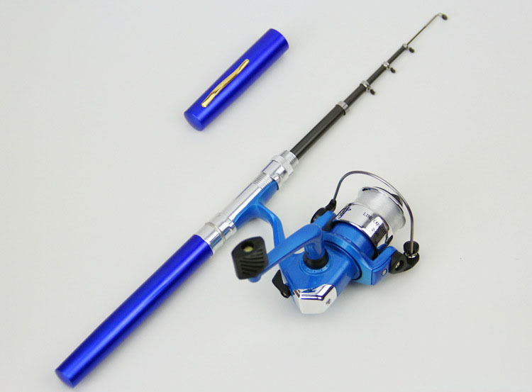 Z20 FRP Portable Ultra Light Fishing Tackle Reel Rod Mini Pen Telescopic Fishing Rods Set HG191
