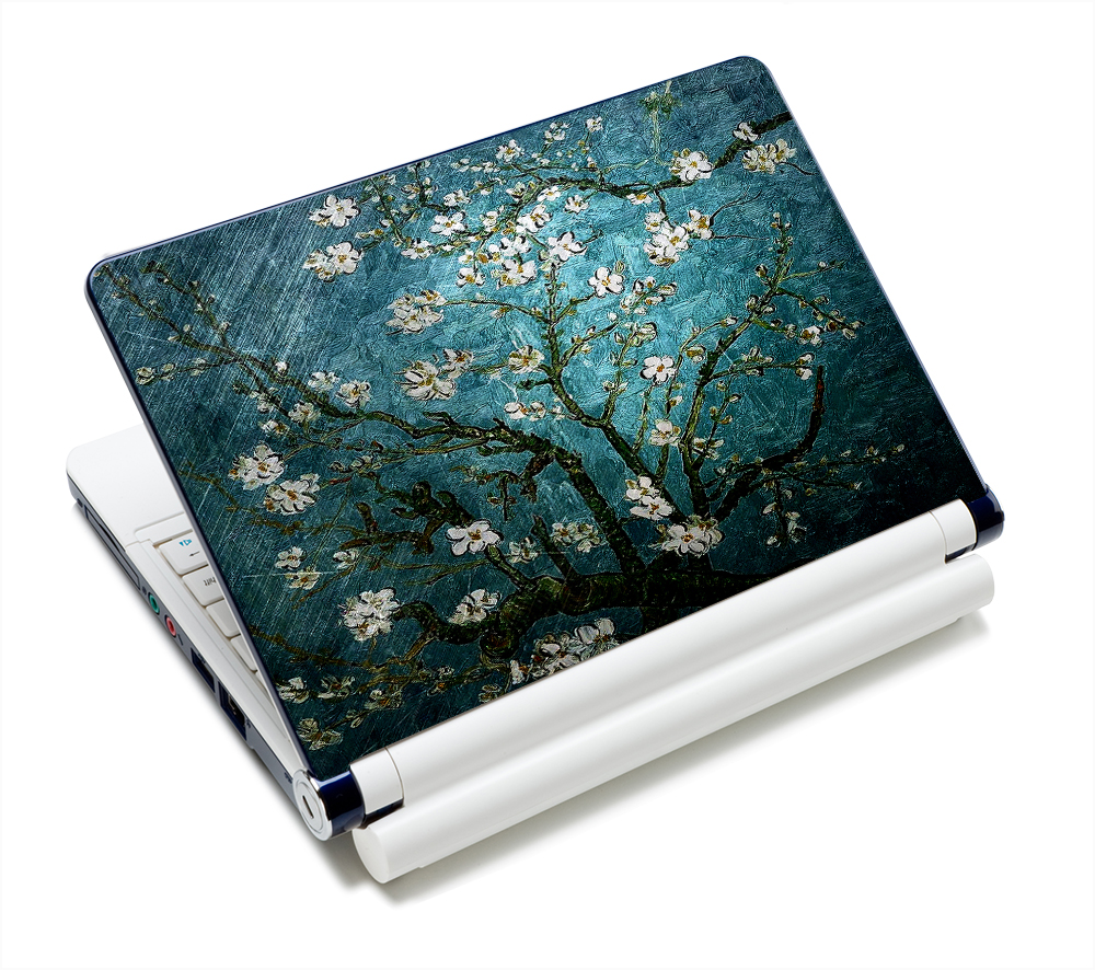 """12.1"""" 13.3"""" 14"""" 14.4"""" 15"""" 15.4"""" 15.6"""" Inch Blue Flower Laptop Skins Sticker Cover Decal Protectors for LENOVO/HP/DELL/ACER/asus(China (Mainland))"""