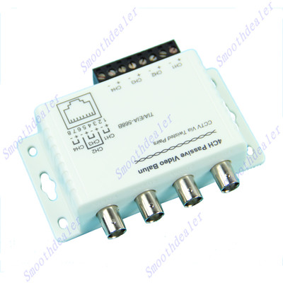4 Ch Passive Receiver Transmitter Video Balun For CCTV Over UTP Cable(China (Mainland))