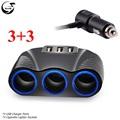 Car charger 3 in 1 Cigarette Lighter Splitter Power Adapter 3 1A 12V USB Car charger