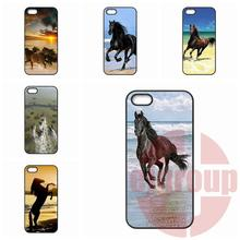 Huawei P6 P7 P8 mini Lite Honor 3C 4C 6 7 Mate 8 P9 Plus G6 G7 G8 4X 5X Horses Running Beach TPU Mobile Phone - Cases For You Store store