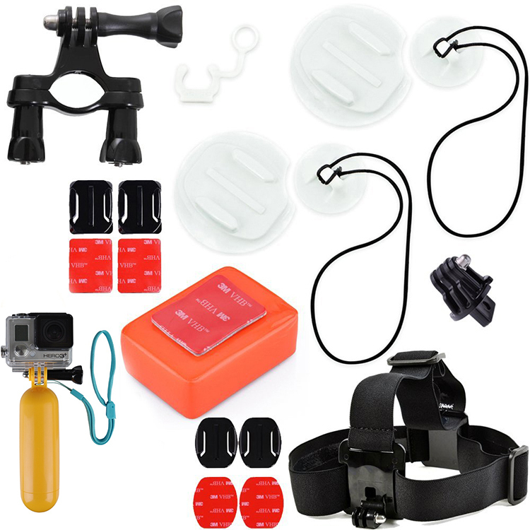 Go Pro Surf Accessory Kit Includes Surfboard Mount + Arm Extention+ Floaty Sponge & 3M Adhesive + Bobber fit for Gopro 4 Xiaomi(China (Mainland))
