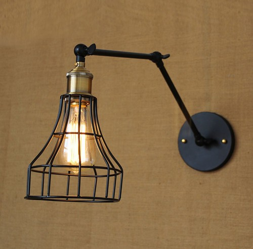 Фотография Edison Wall Sconce Retro Loft Style Industrial Vintage Wall Lamp Adjustable Metal Wall Light Fixtures For Indoor Lighting