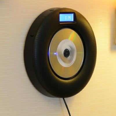 Insert card speaker mini audio wall mounted cd music player sound wall usb flash drive fm radio alarm clock(China (Mainland))