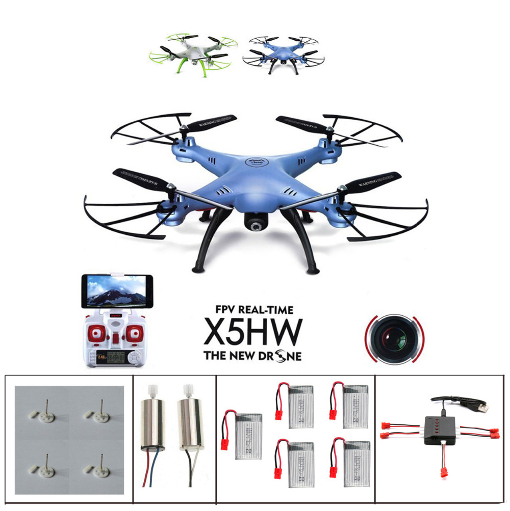 Syma X5HW FPV With WIFI HD Camera 2.4G 6-Axis RC Quadcopter Helicopter Syma X5HC X5SW Upgrade RC Drone with 5 battery(China (Mainland))
