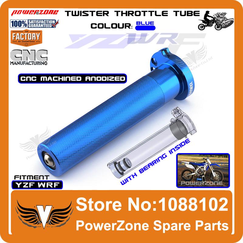 Billet CNC Aluminum Twister Throttle Tube Fit YZF250 400 426 450 WRF 250 400 450 Motorcross Dirt Bike Free Shipping(China (Mainland))