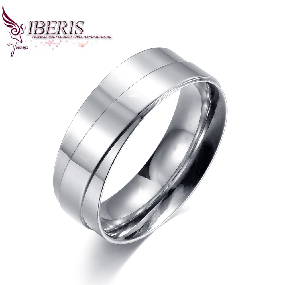 6mm 8mm cheap price ring classic design cheap price jewelry ring 316L Stainless steel silver rings(China (Mainland))