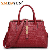 2016 Women Crocodile Leather Bag Real Genuine Leather Handbags Woman Vintage Hand bag Brands Ladies Black Shoulder Bag B892(China (Mainland))
