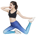 newest Stytle Women Sport Leggings Gradient Ramp Lady High Waist Stretched Gym Fitness Pants Running Wear