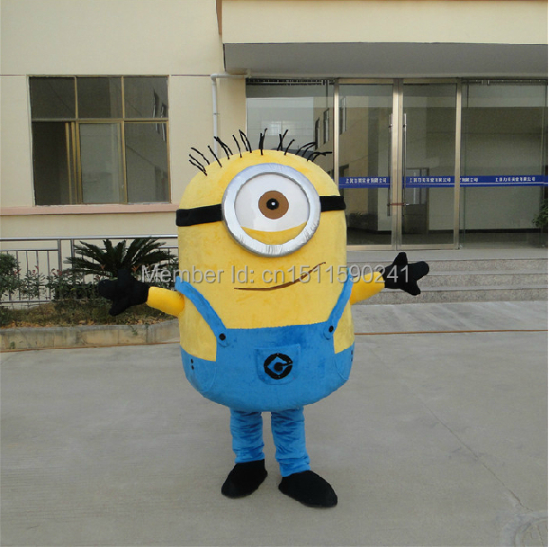 Slaves of despicable me Mascot costume free shipping(China (Mainland))