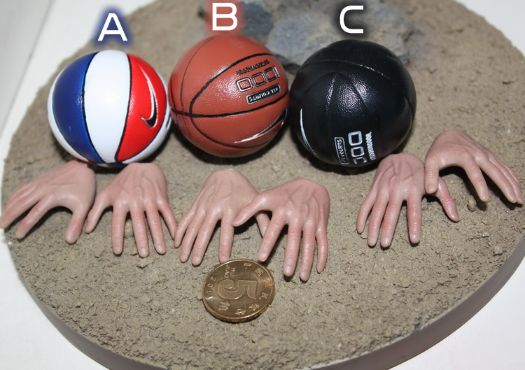 Winstartoy 1/6 Magnet basketball + magnet hand type SET for enterbay hottoys action figure DIY(China (Mainland))