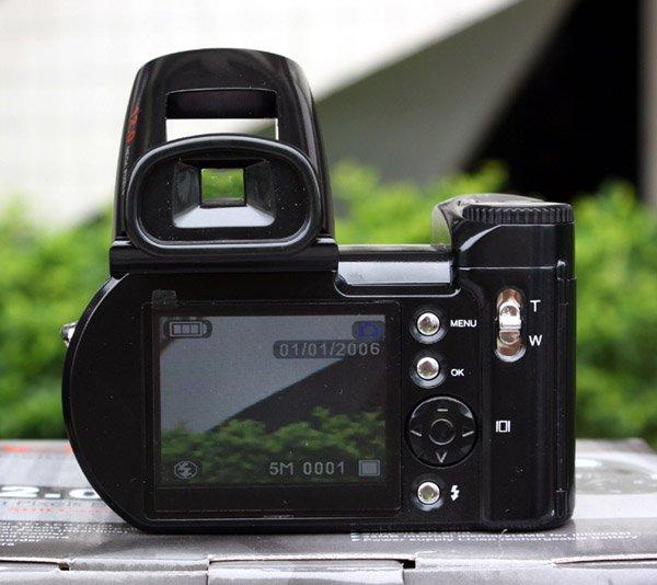 4Pcs/Lot, DHL Free Ship 16Mp Digital Camera Protax/Polo DC510T SLR Shape Camera 5MP CMOS 8X Zoom Camera HD 720P Video Li-Battery(China (Mainland))