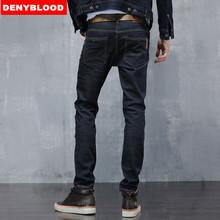 Mens Stretched Cotton Denim Slim Straigh Pants Biker Jeans Male Fashion Denim Cargo Pants Classic Jeans Casual Pants 28-38 8602(China (Mainland))