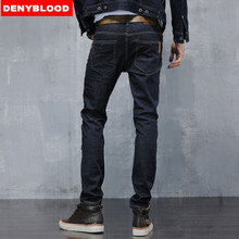 Mens Stretched Cotton Denim Slim Straigh Pants Biker Jeans Male Fashion Denim Cargo Pants Classic Jeans Casual Pants 28-38 8602