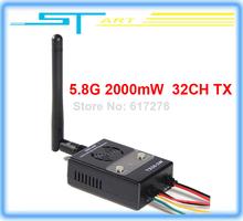 2014 new version Boscam FPV 5.8GHz 32CH 2000mW Wireless Audio Vedio AV Transmitter TX TX58-2W rx for RC helicopter Dro girl gift