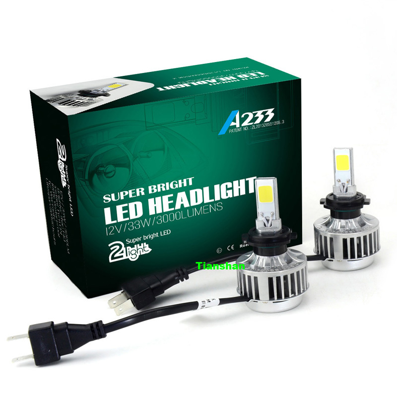 All-in-One Car Headlights H7 LED H8/H9/H11 HB3/9005 HB4/9006 H1 Bulb Auto Front Bulb 66W 6000lm Automobiles Headlamp 6500K/3000K(China (Mainland))