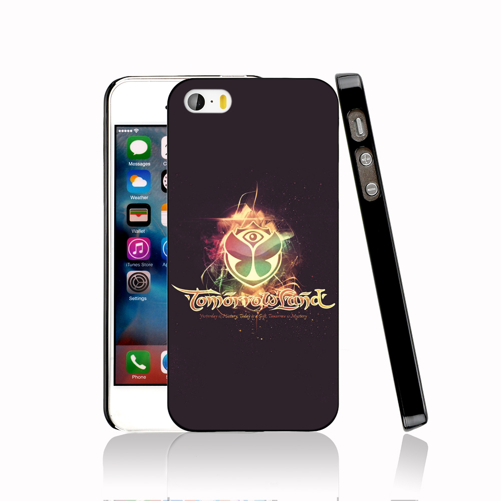 14442 Tomorrowland Electronic Music Festival Logo protective Cover cell phone Case for iPhone 4 4S 5 5S 5C SE 6 6S Plus 6SPlus(China (Mainland))