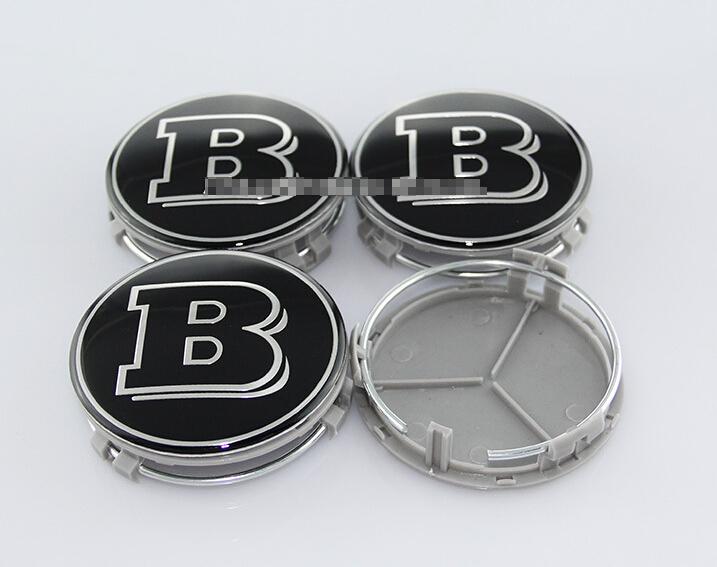4pcs a10 benz 75mm b silver logo wheel center caps emblem for Center caps for mercedes benz wheels
