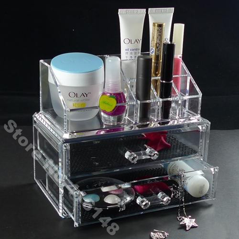 Makeup Organizer Cosmetic Crystal Acrylic Case Display Box
