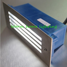 A prueba de agua ( 3 * 1 ) 3 W LED lámparas de luz subterráneos empotrar suelo enterrado lámpara escalera paisaje exterior paso pared iluminación AC85-265V(China (Mainland))