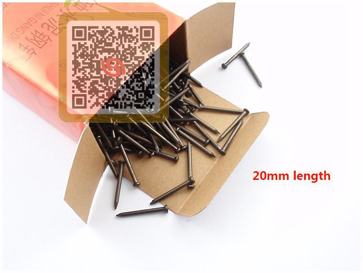 2015 Hot Black Plating Nails Cement Concrete Nail 2.0mm*20mm Length Wire Iron Nails Pins For Woodworking Antique Furniture(China (Mainland))