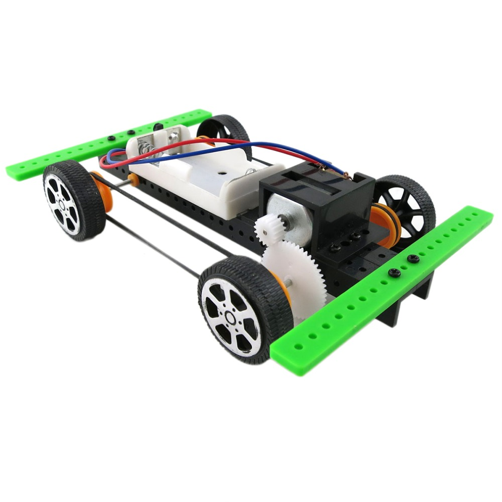 New Arrival Self assembly DIY Mini Battery Powered Car Model Kit Children Kids Educational Toy Gift Newest