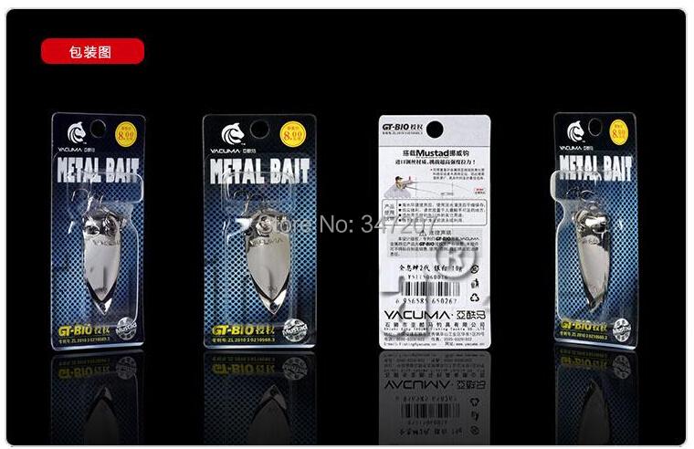 GT-BIO 4pcs Metal Spoon Lures 10g/15g Spinner Bait Fishing Lures Hard Bait Free Shipping(China (Mainland))