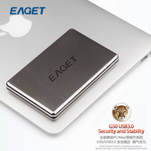 EAGET G50 External Hard Disk 500G 1TB HDD Stainless Steel Body Encryption Shockproof USB3.0 High-Speed Computer Hard Disk1tb(China (Mainland))