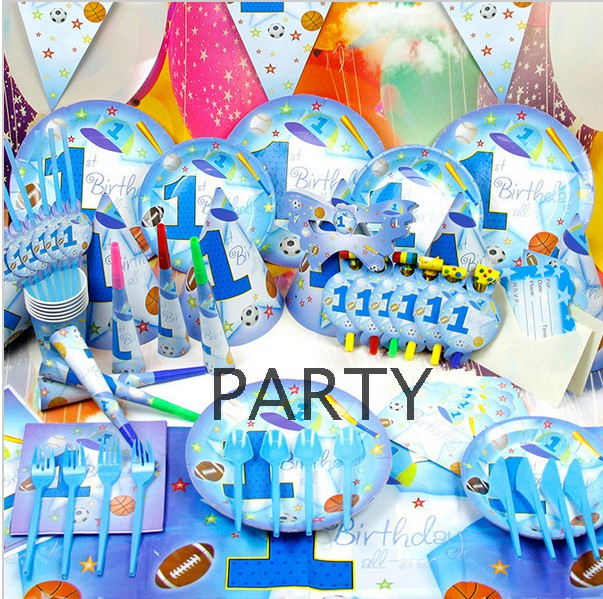 55% Off New Style Boys Soccer 1 Year Football Soccer Kids Pack Child Birthday Party Decor Festival Celebration Set Supplies Gift(China (Mainland))