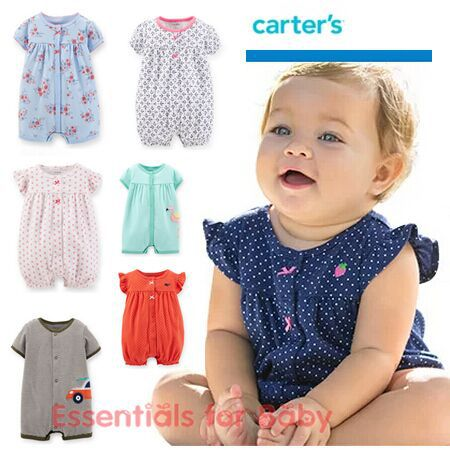 New 2015 summer Carters baby girl boy one pieces jumpsuits baby clothing short sleeve romper vestidos
