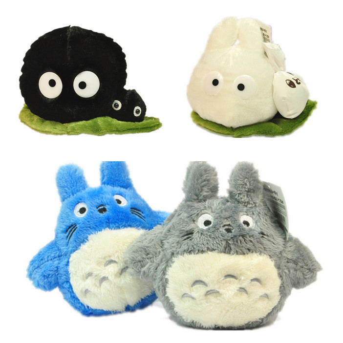 Japanese Totoro family doll small pendant ornaments Gifts my neighbor totoro fairy dust Black briquettes elf push toy 7.87inches(China (Mainland))
