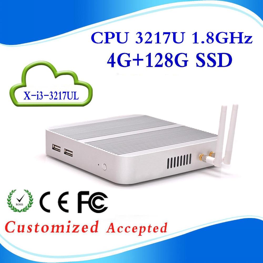 Fanless Small System X-I3-3217UL 3217U 1.7G HZ Mini PC Windows 7 Vensmile W10 i5 5257u 4G RAM 128G SSD With VGA/HDMI<br><br>Aliexpress