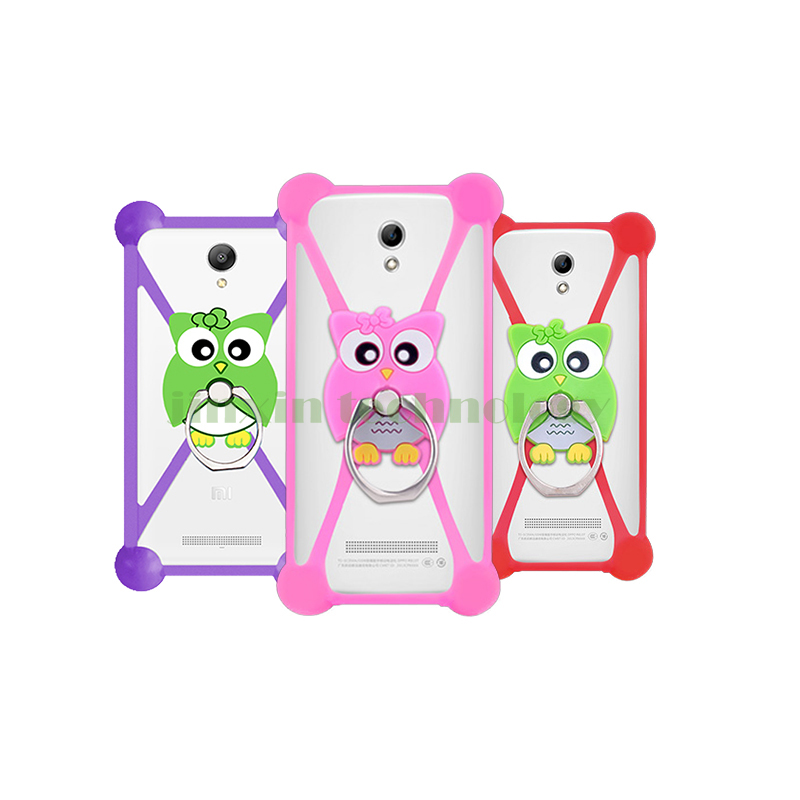New Cartoon Ring Stand Holder Soft Silicone Case For just5 BLASTER Cell Phone 3.5 - 5.5 Inch Bumper Frame Cover(China (Mainland))