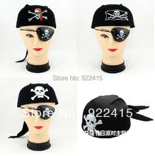 Free Shipping Party supplies - skull circle hat pirate hat circle pirate hat+ pirate eye(China (Mainland))