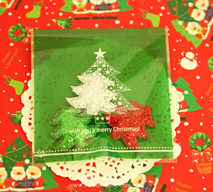 Green Christmas tree Bread Bags,Party Favor Bags,Self-adhesive Plastic Bags,Gift Wrapping Bag<br><br>Aliexpress