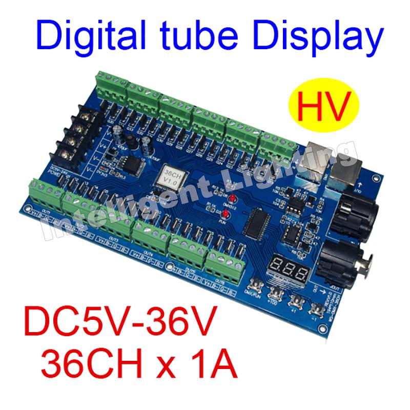 36CH RGB dmx512 Controller decoder, 36 channel-HV 13groups RGB output, DC5V-24V for LED strip light, RGB dump node(China (Mainland))